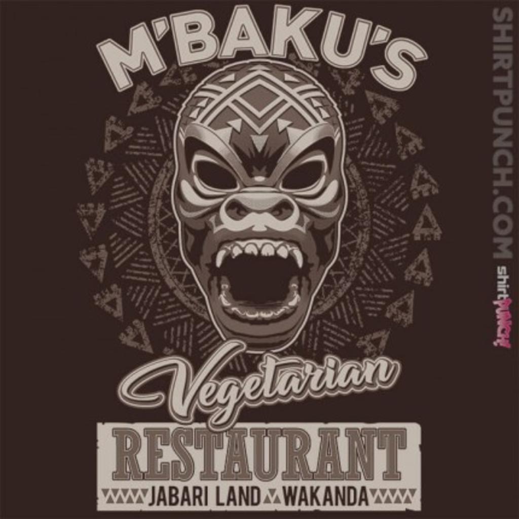 ShirtPunch: M'Baku's Vegetarian Restaurant