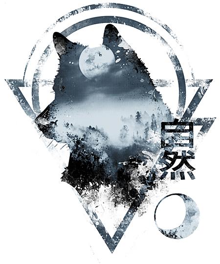 Qwertee: Wild - Wolf