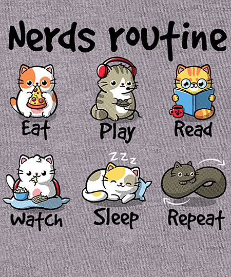 Qwertee: Nerds routine