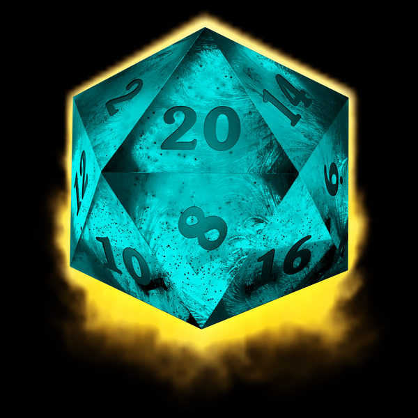 NeatoShop: Crystal d20 - blue
