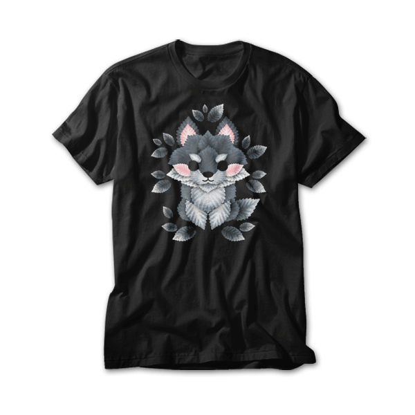 OtherTees: Little wolf of leaves
