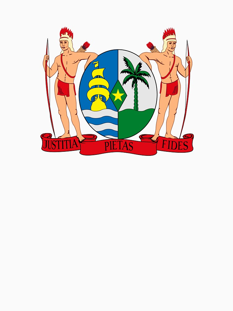 RedBubble: Coat of Arms of Suriname, 1959-1975