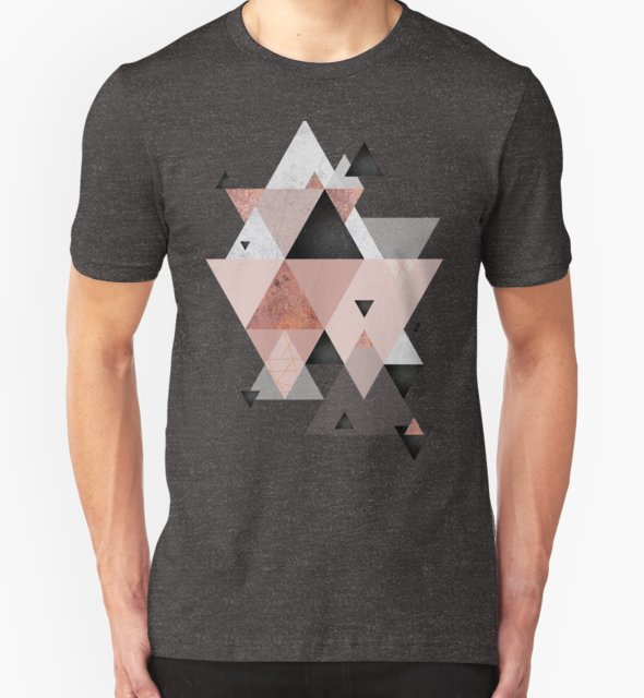 RedBubble: Geometric Compilation in Rose Gold and Blush Pink