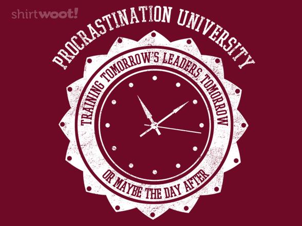 Woot!: Procrastination University
