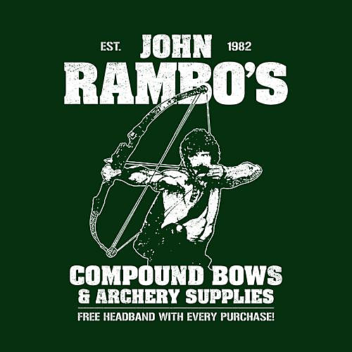 Five Finger Tees: John Rambo's Compound Bows & Archery Supplies T-Shirt