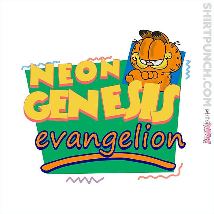 ShirtPunch: Neon Garfield Evangelion And Friends