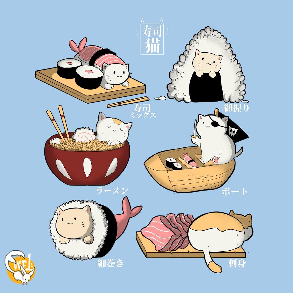 TeeTee: Sushi cat