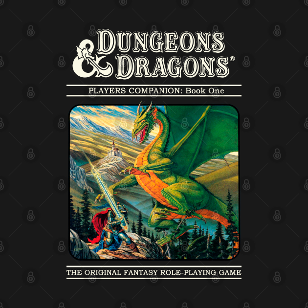 TeePublic: Dungeons & Dragons Retro cover
