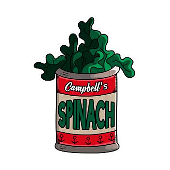BustedTees: Spinach to get strong - Hoodie