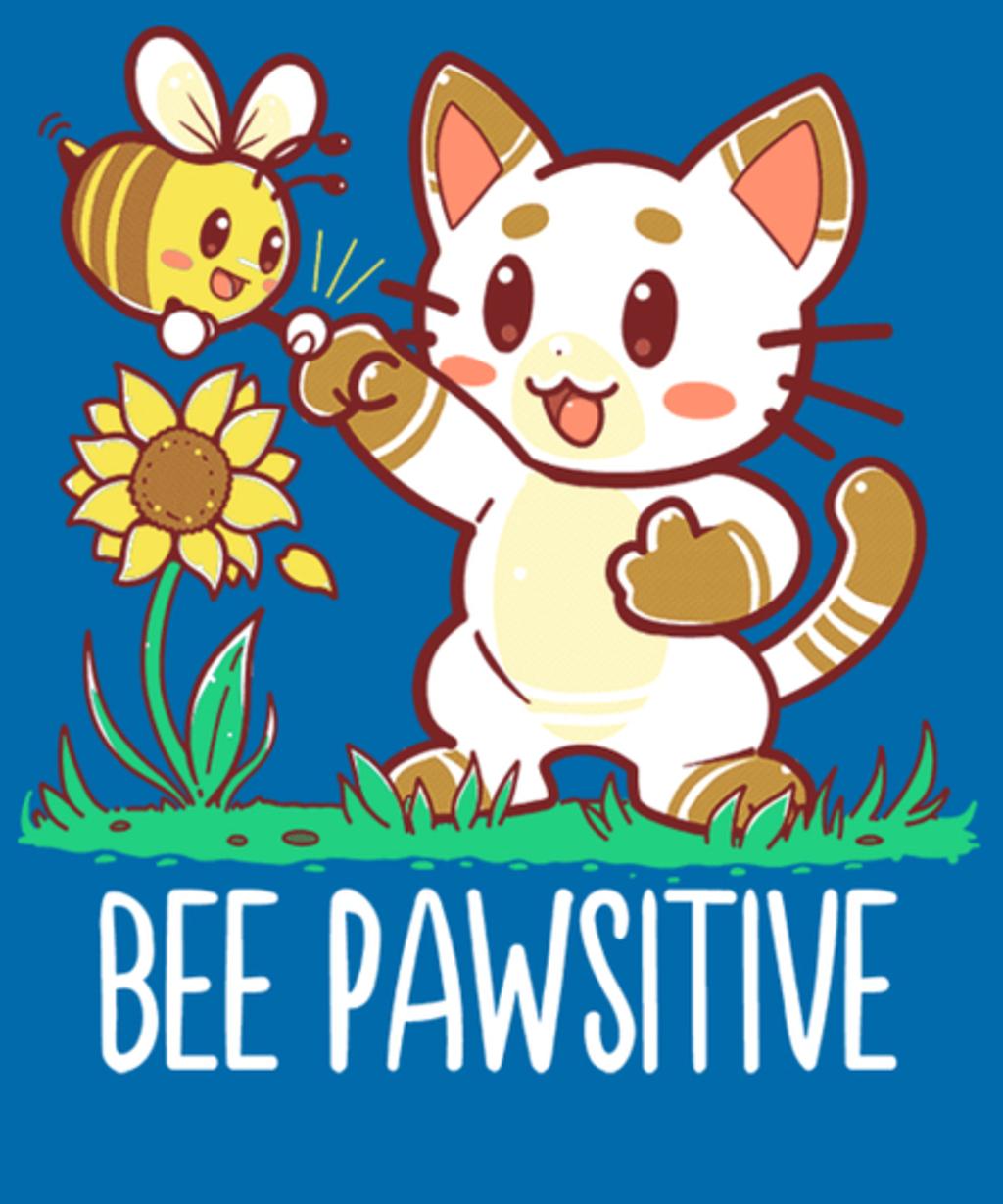Qwertee: Bee Pawsitive