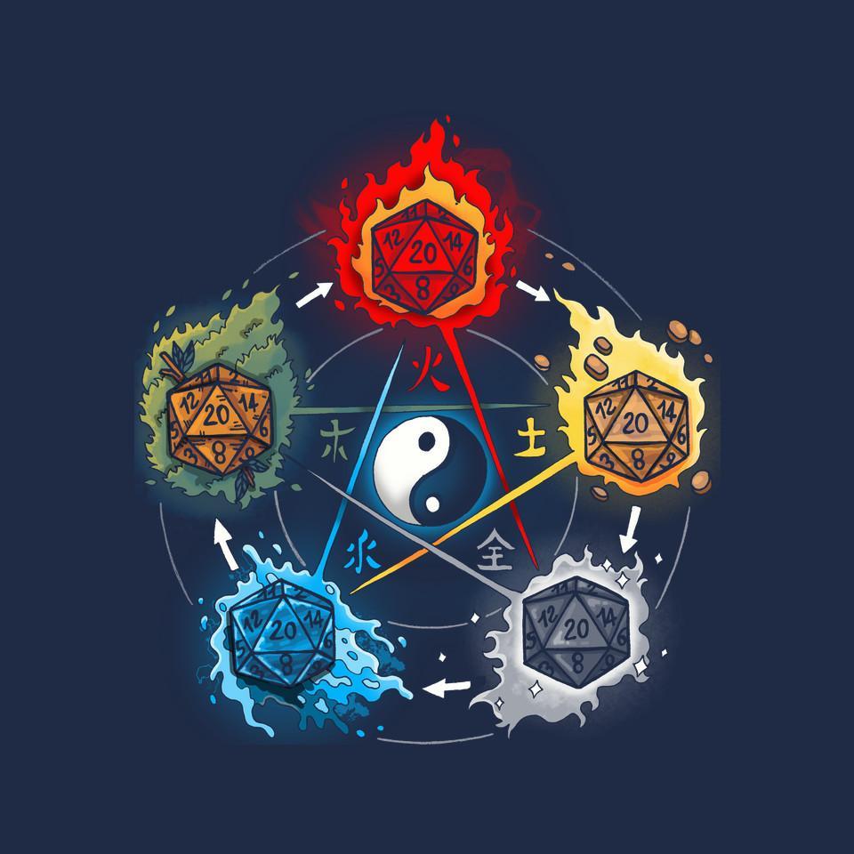 TeeFury: Dice Elements