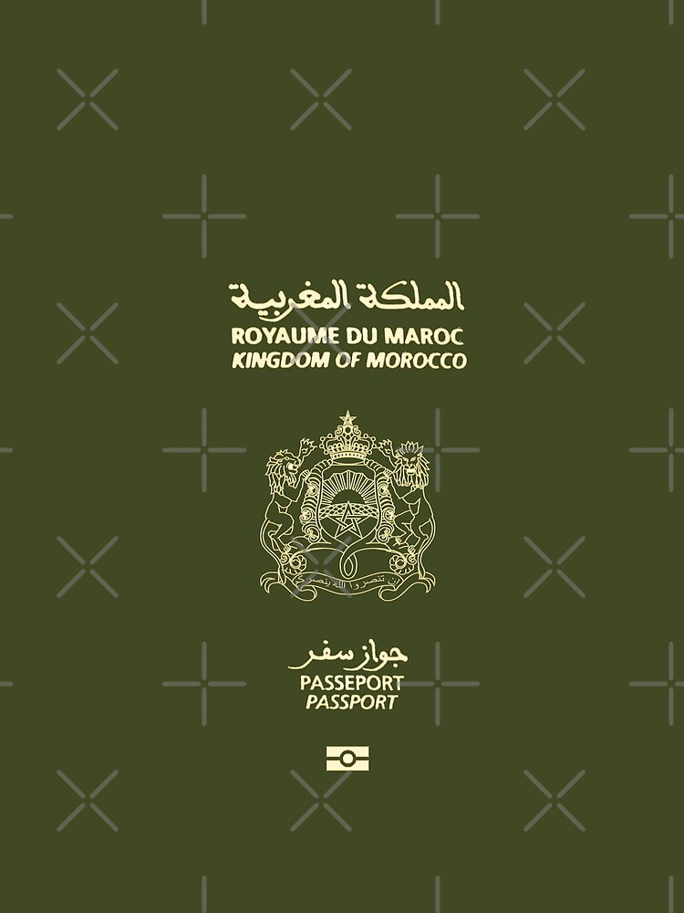 RedBubble: Moroccan Passport Tshirt
