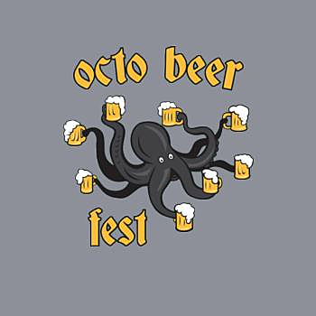 BustedTees: Octo Beer Fest Funny Octopus Oktoberfest