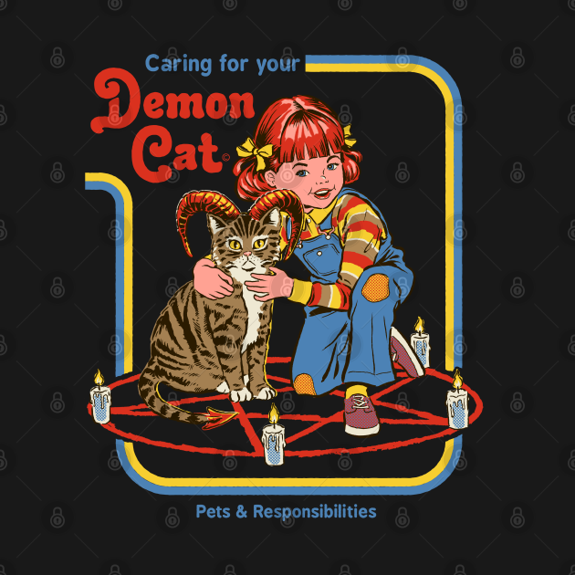 TeePublic: Caring for your Demon cat