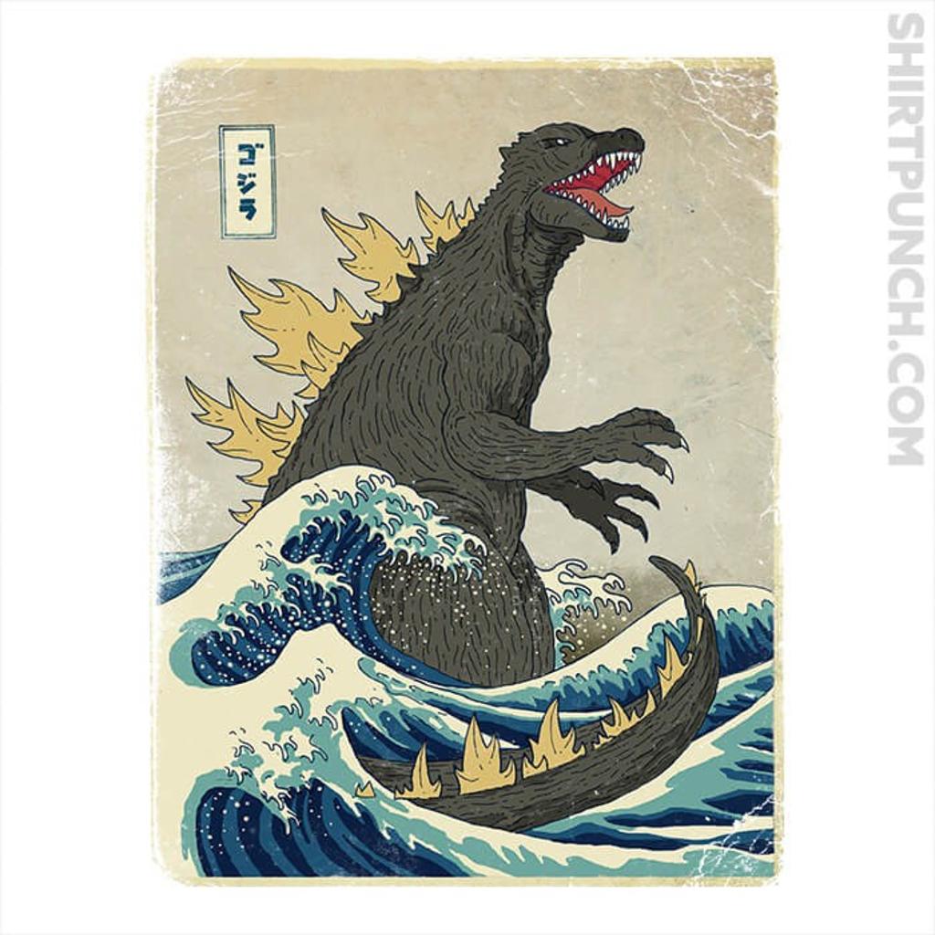ShirtPunch: The Great Godzilla off Kanagawa