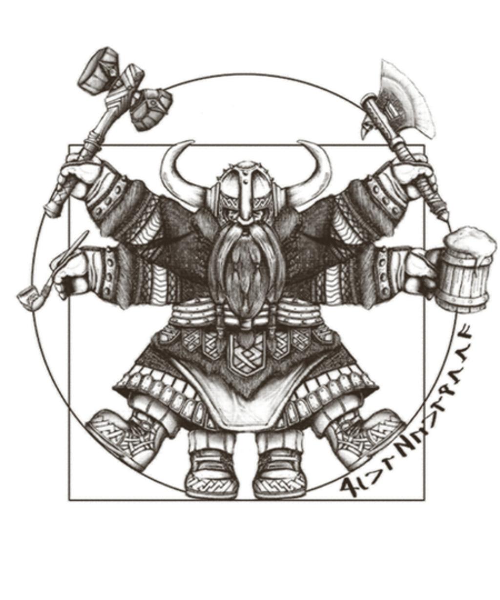 Qwertee: Vitruvian Dwarf