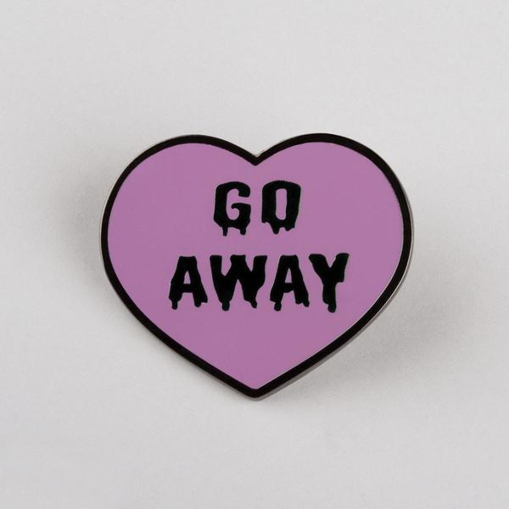 TeeTurtle: Go Away Pin