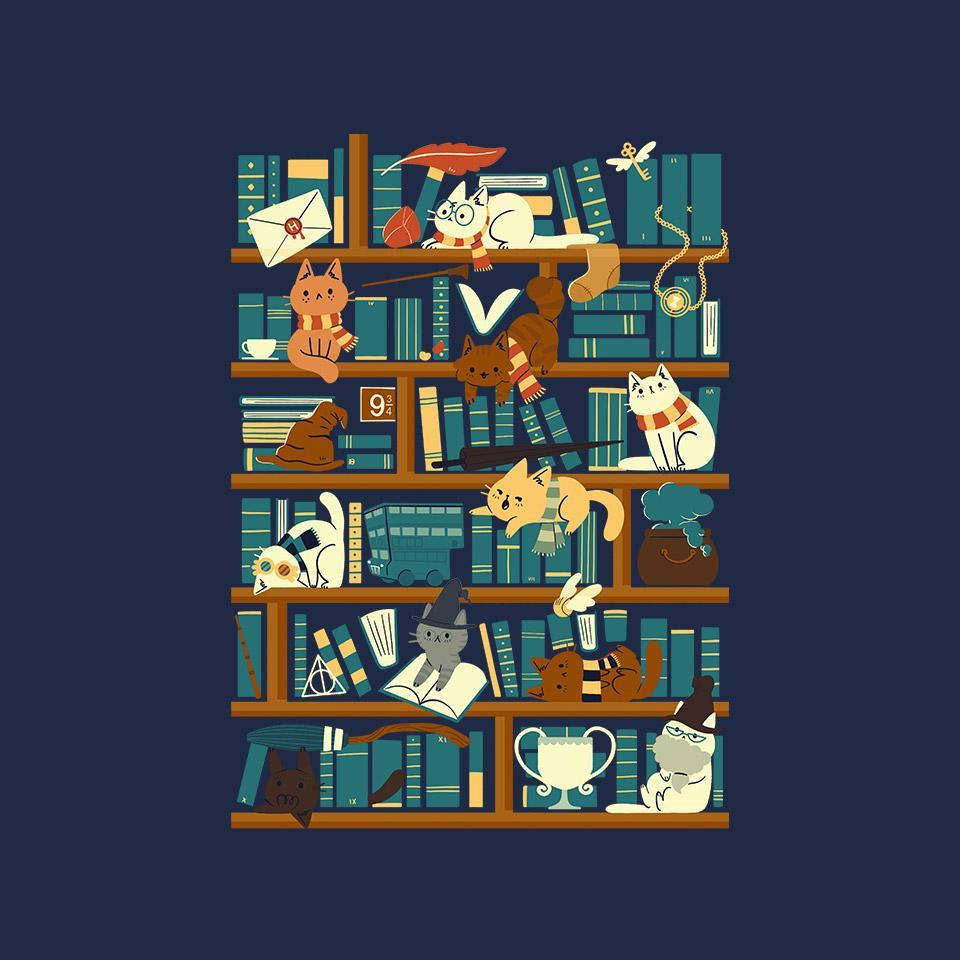 TeeFury: Library Magic School