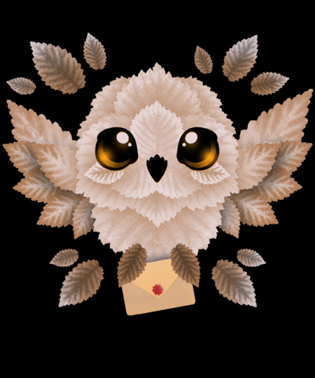 Qwertee: owl mail of leaves