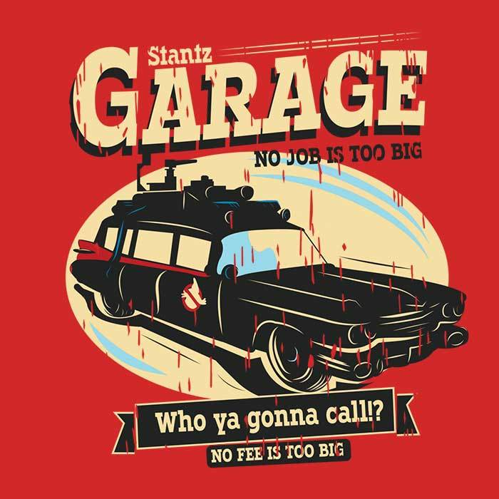 Once Upon a Tee: Stantz Garage
