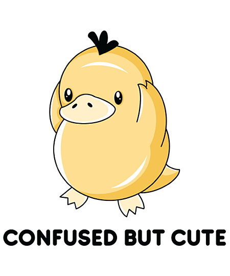 Qwertee: Confused but Cute
