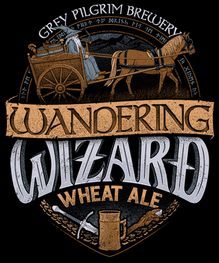 Qwertee: Wandering Wizard Wheat