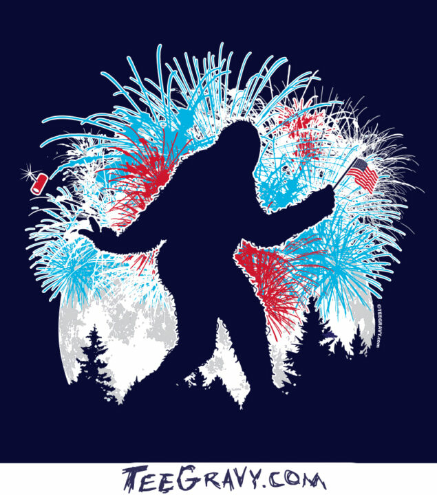 Tee Gravy: Squatch and the 4th of July