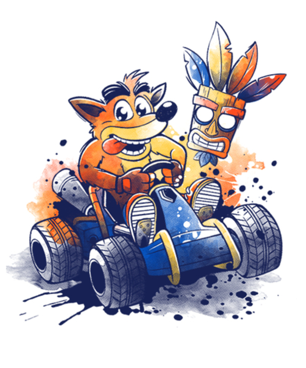 Qwertee: Team racing watercolor