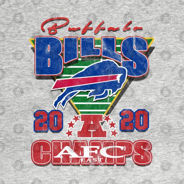 TeePublic: Distressed Vintage Bills 2020 AFC East Champs