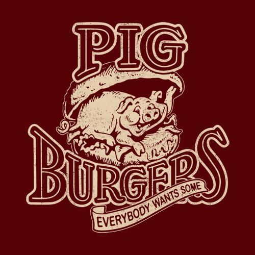 Five Finger Tees: Pig Burgers T-Shirt