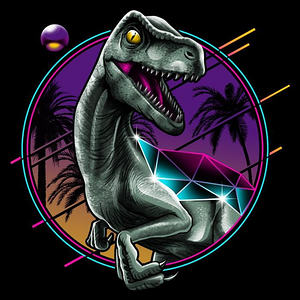 Once Upon a Tee: Rad Velociraptor