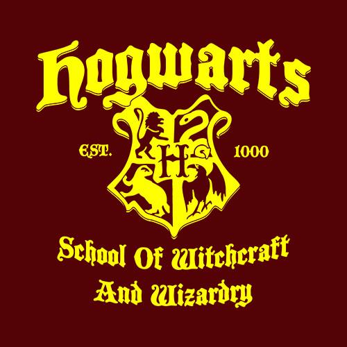 Five Finger Tees: Hogwarts School Of Witchcraft And Wizardry T-Shirt