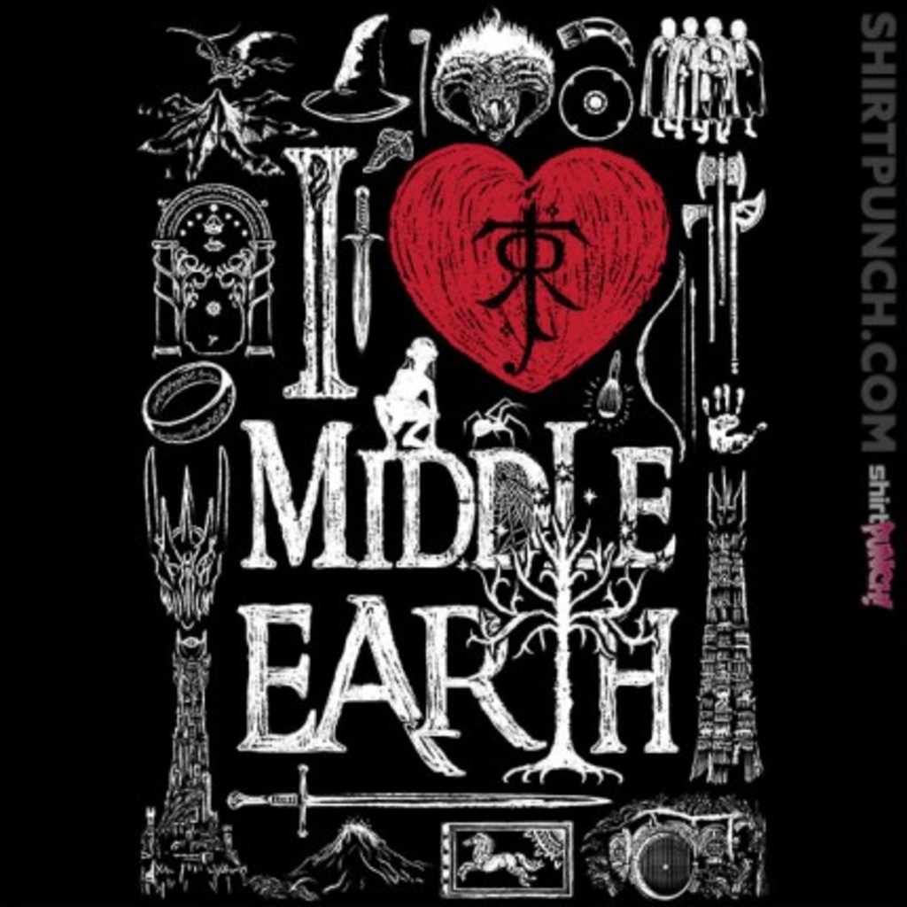 ShirtPunch: I Love Middle Earth