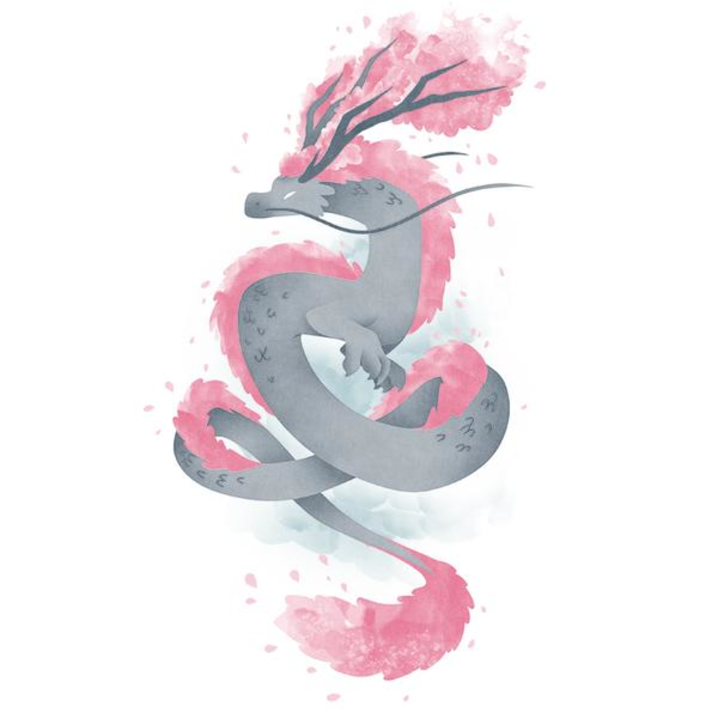 TeeTurtle: Sakura Dragon