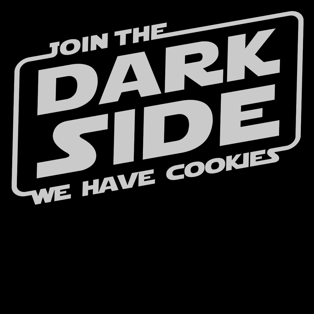 Pop-Up Tee: Join the Dark Side - White Ink