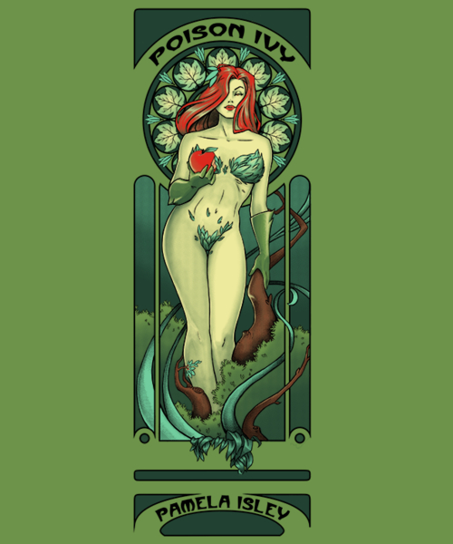 Qwertee: Green Girl