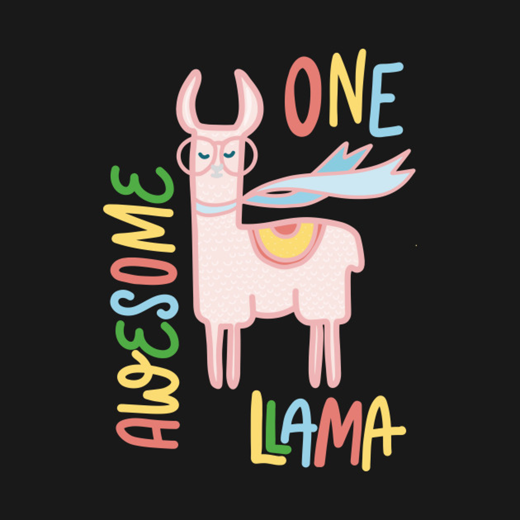 TeePublic: One Awesome Llama
