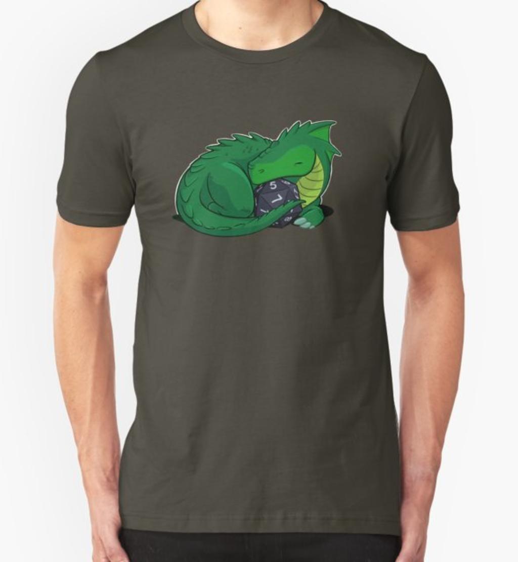 RedBubble: D20 Green Dragon