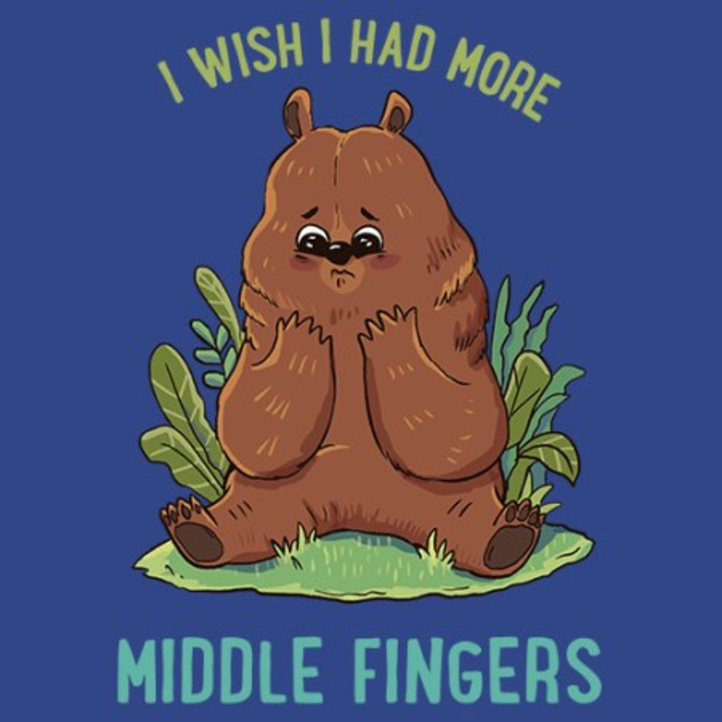 MeWicked: I Wish I Had More Middle Fingers - Cute Bear