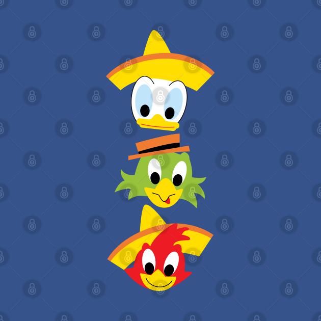 TeePublic: The Three Caballeros