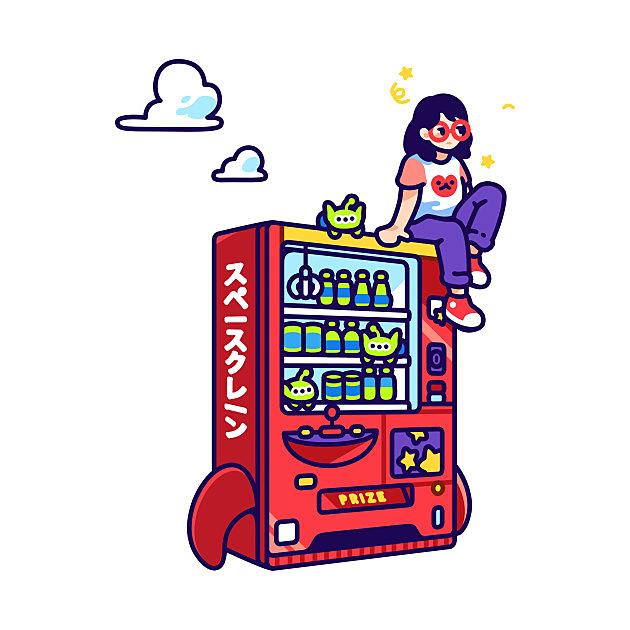 TeePublic: Alien Soda Claw Machine