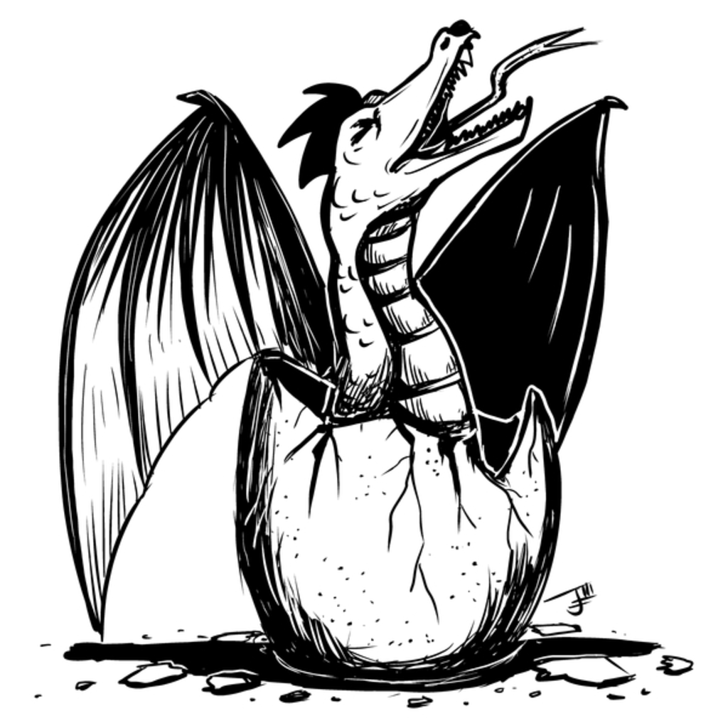 NeatoShop: Inktober Day 9: SCREECH - Hungry Dragon