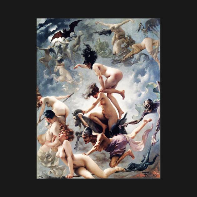 TeePublic: Witches Going To Their Sabbath Luis Ricardo Falero