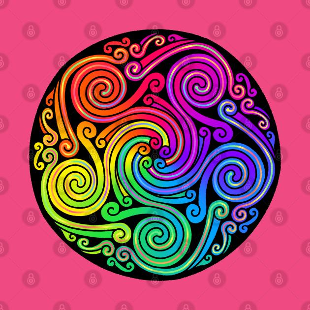 TeePublic: Celtic Rainbow Spirals