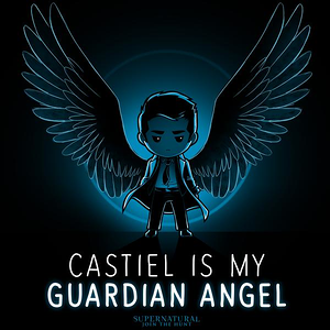 TeeTurtle: Castiel Angel