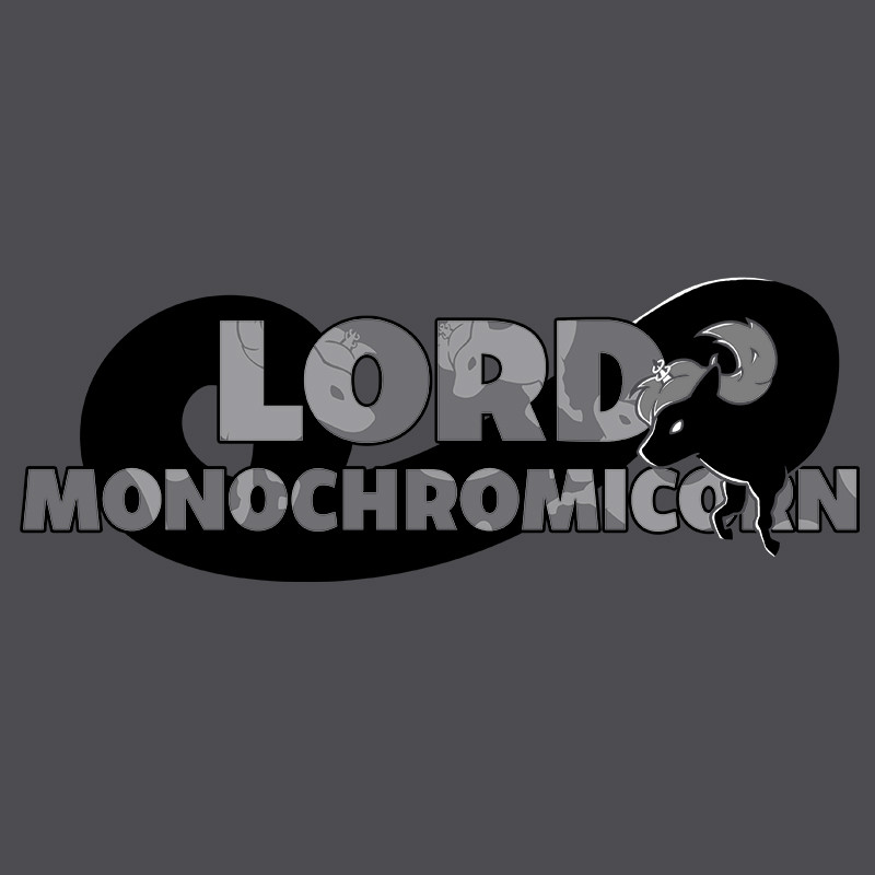 TeeTurtle: Lord Monochromicorn Shirt