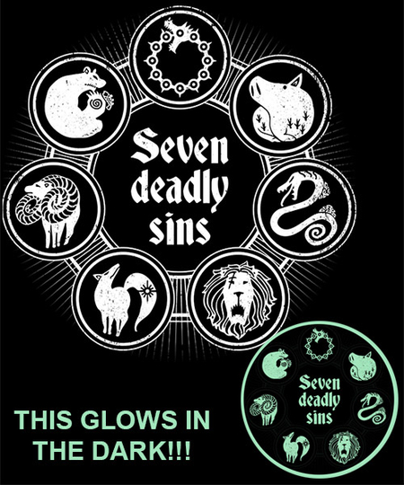 Seven Deadly Sins From Qwertee Day Of The Shirt