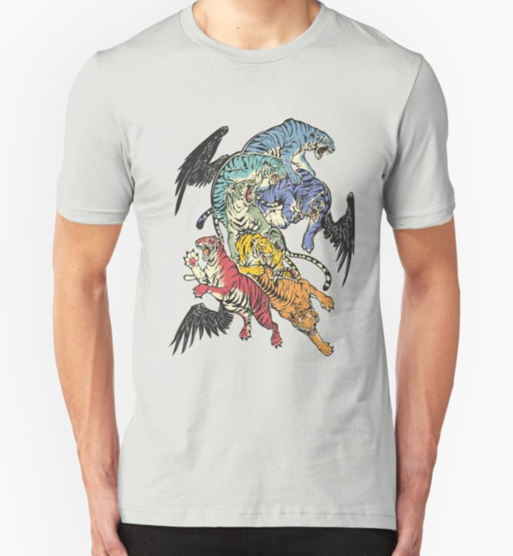 RedBubble: Seven Caged Tigers