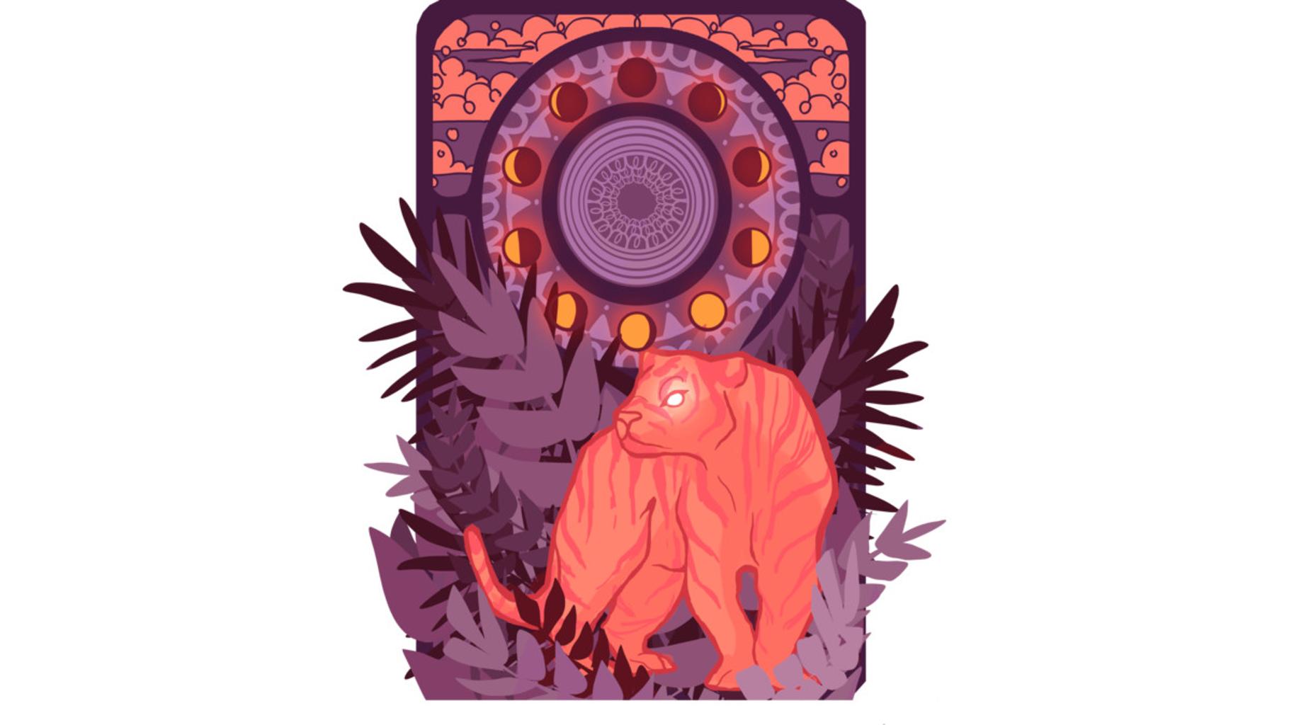 Design by Humans: Tigress Tarot Card