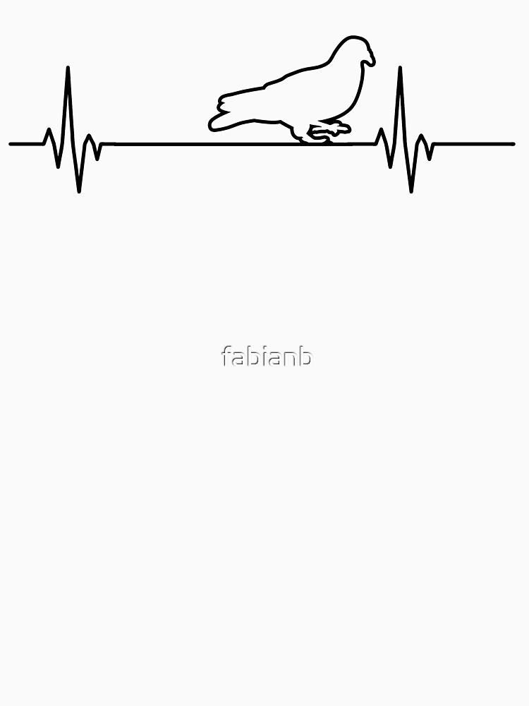 RedBubble: Taube Taubenliebhaber Vogel Geschenke Herzschlag Puls